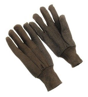 Brown Jersey Gloves w/ Mini Dots