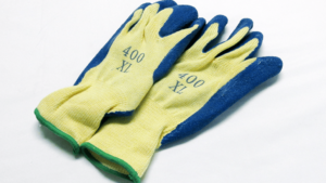 blue palm glove