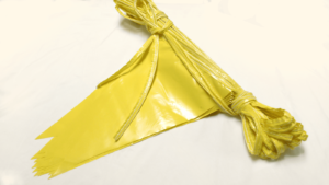 yellow waring line flags